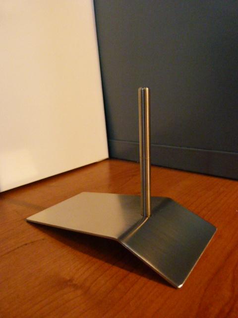 RVS metalen sokkel voor klein beeld met pin