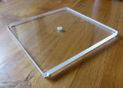 perspex plexiglas sokkel 8 mm dik