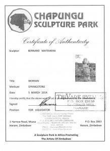 Chapungu Sculpture Park Bernard Matemera sculpture first generation Zimbabwe